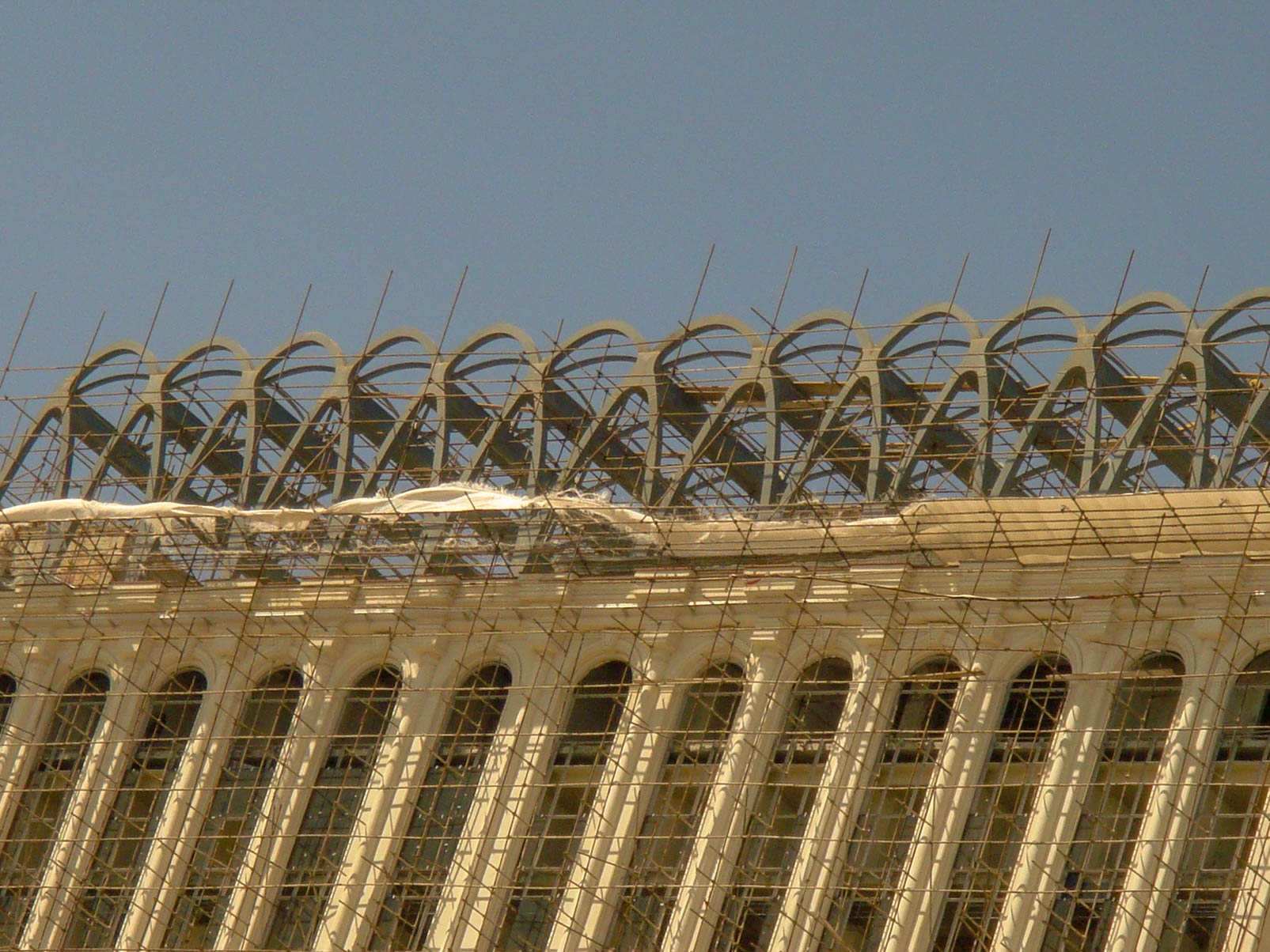 Upper structure for restaurant